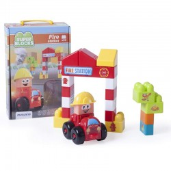 Super Blocks Estación de bomberos 22 pcs