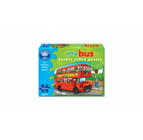 Puzzle autobus doble cara 12pc. Little bus.